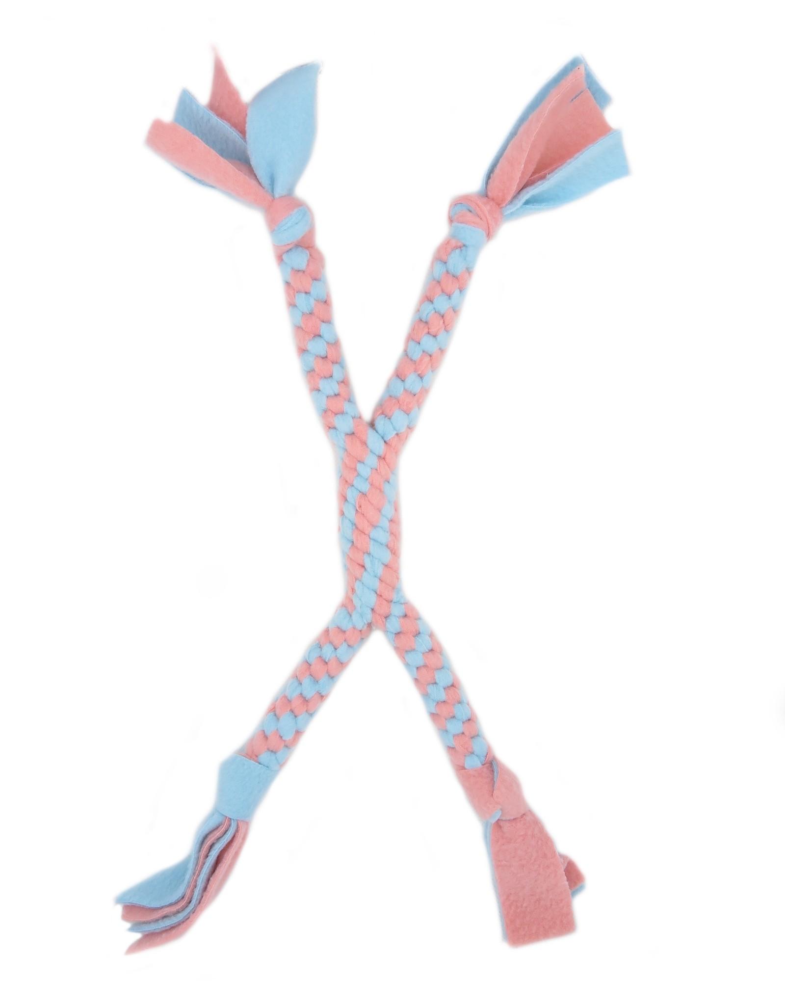 Fleecetoy Criss cross blue pink