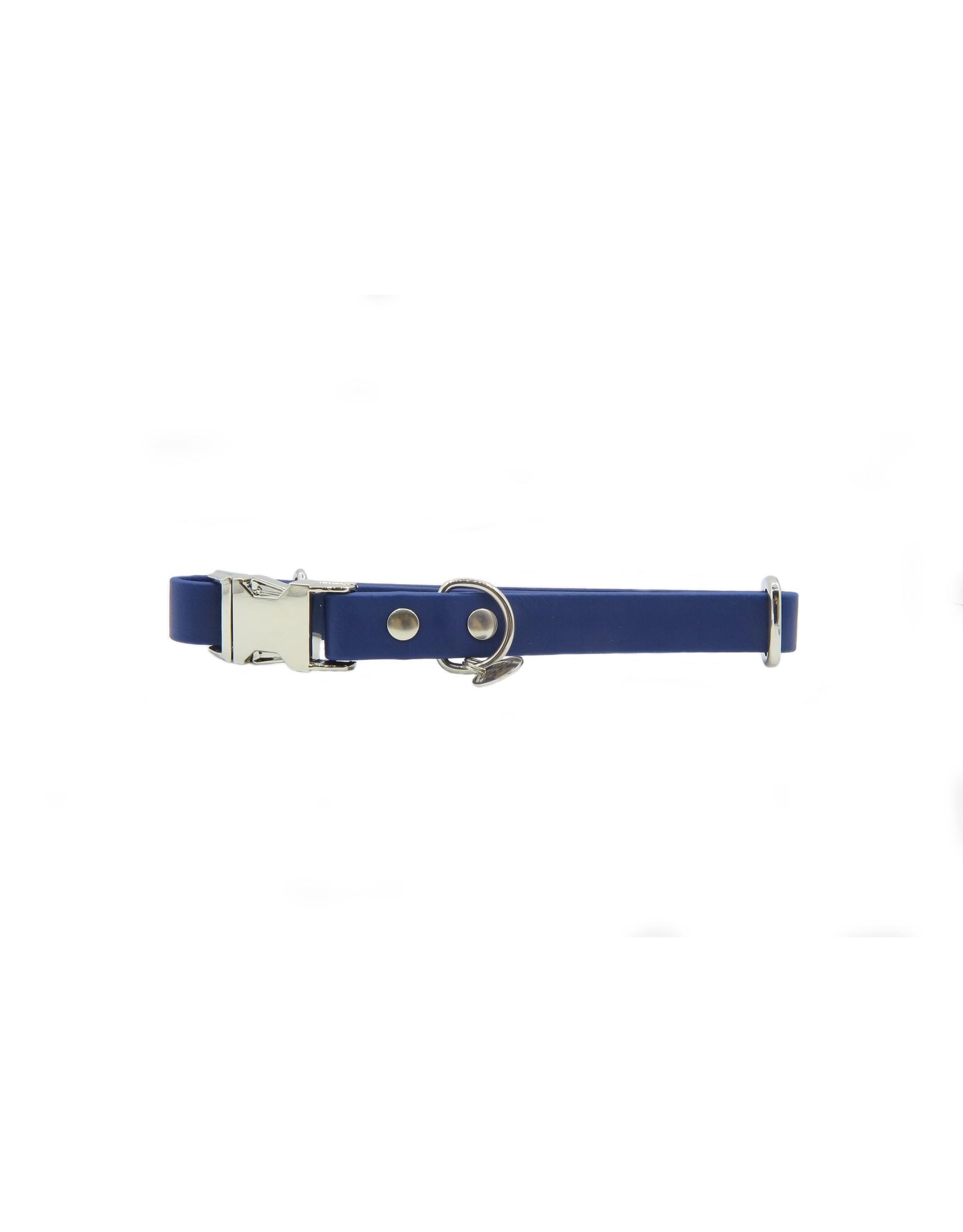 Verstelbare halsband dark blue