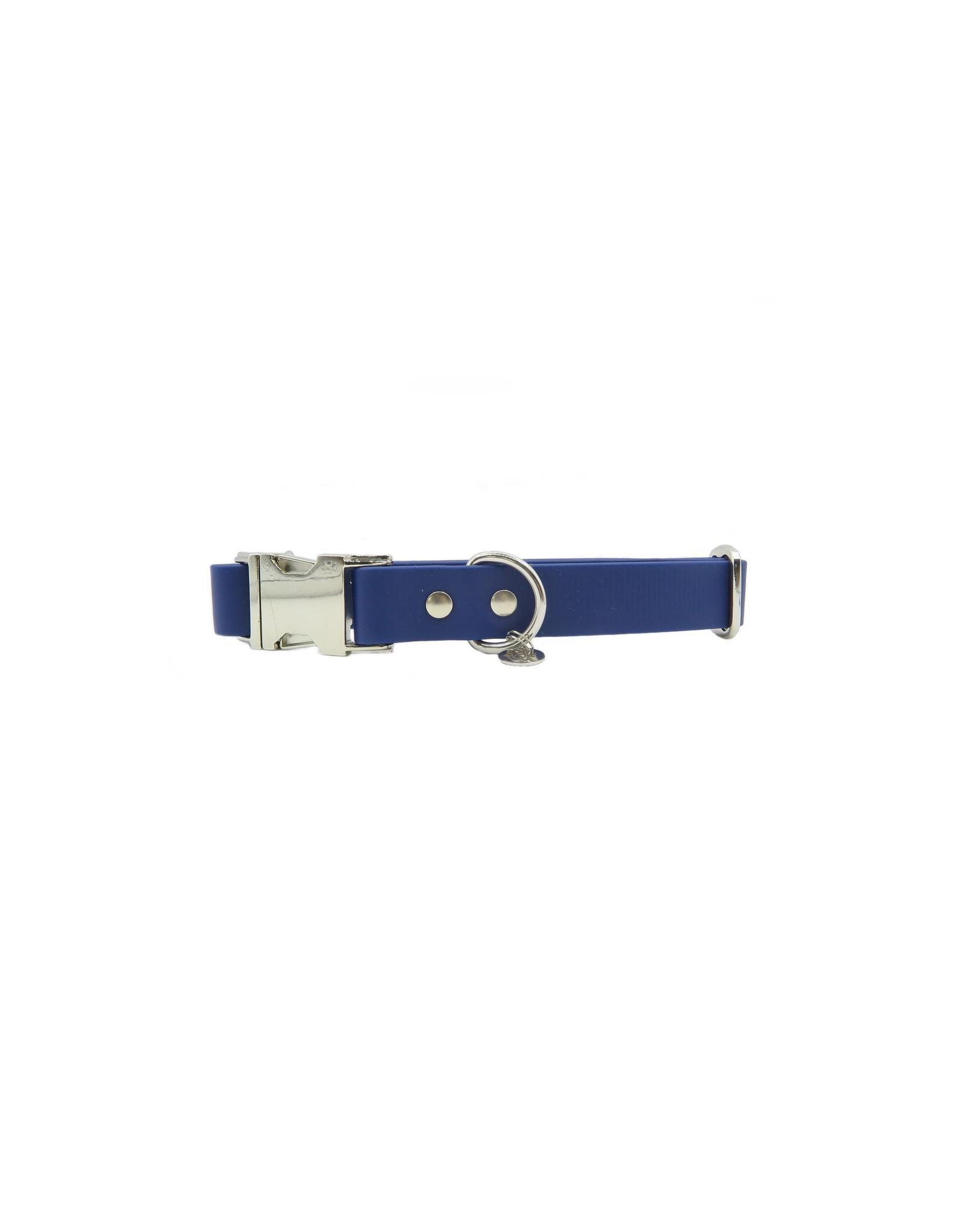 Verstelbare halsband dark blue breed