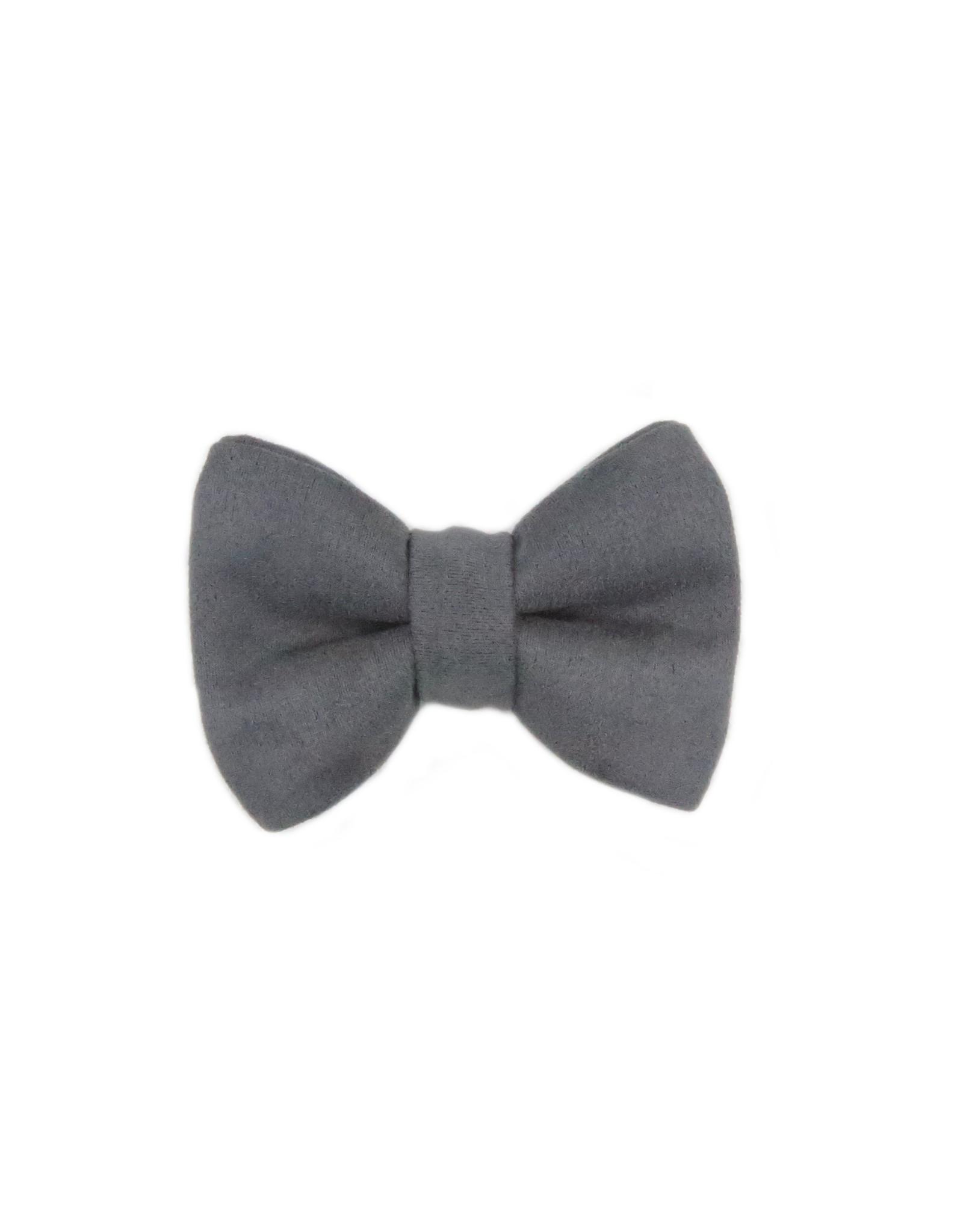 Bowtie grey velvet