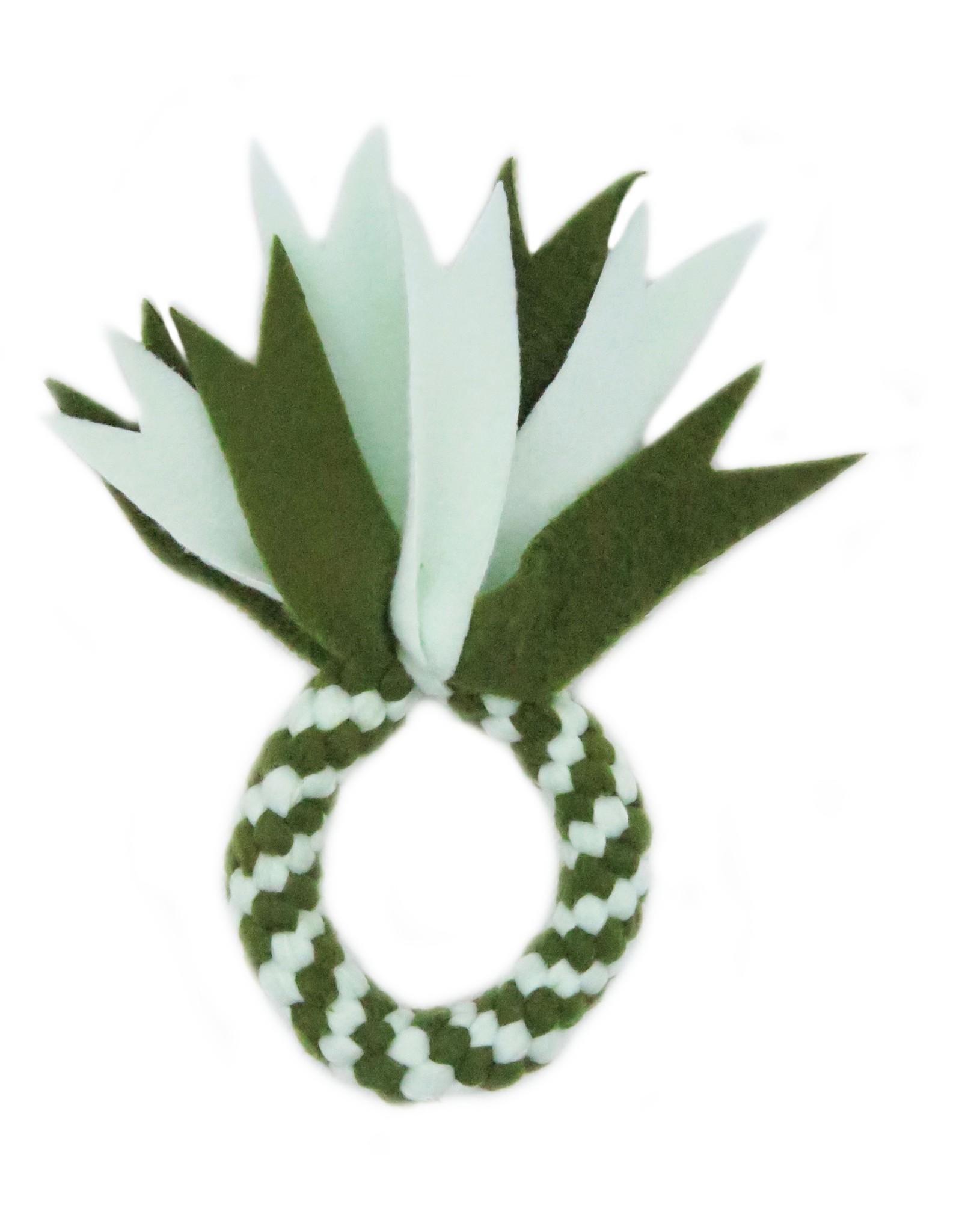 Minty green round fleece toy