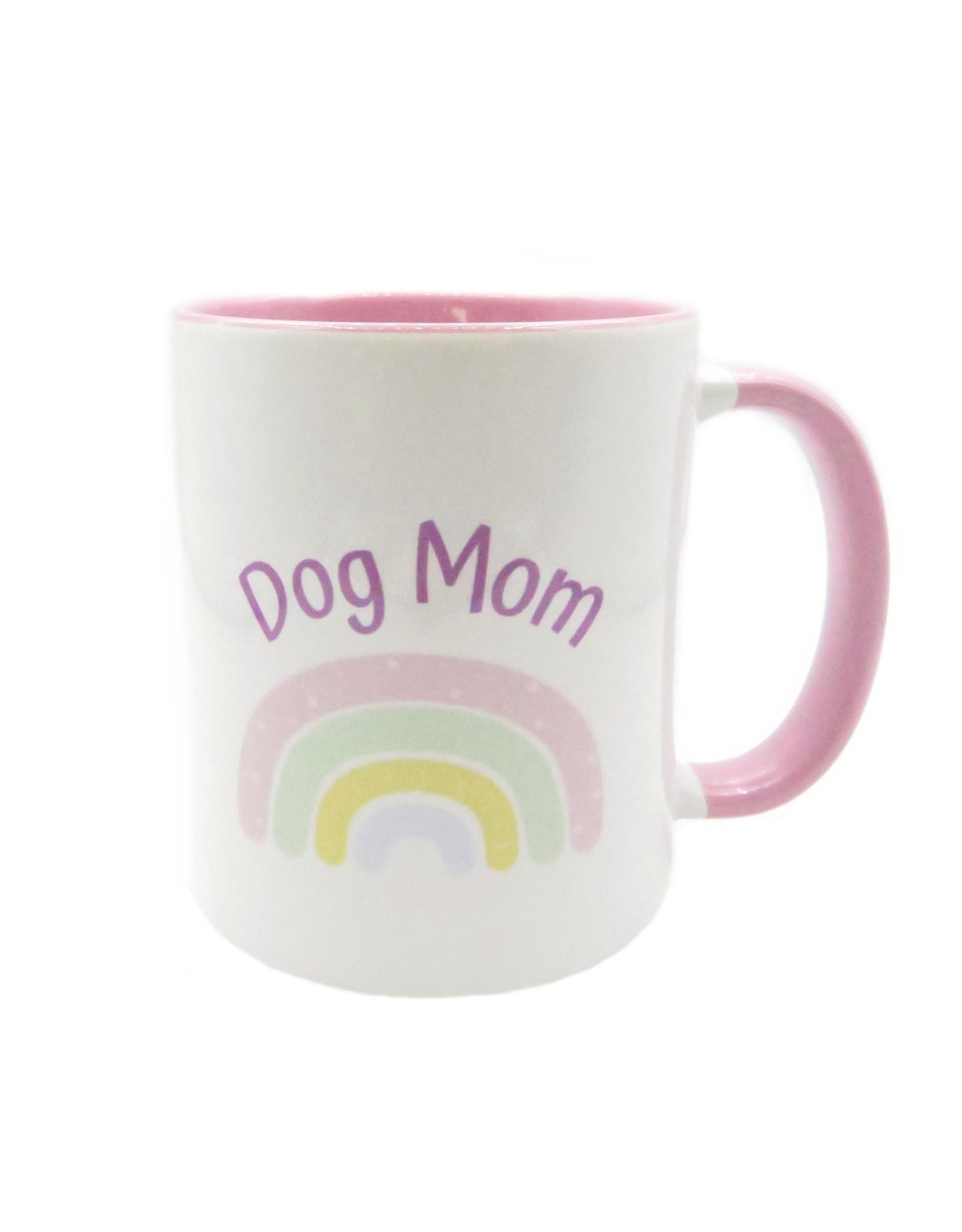 Dog mom rainbow mug
