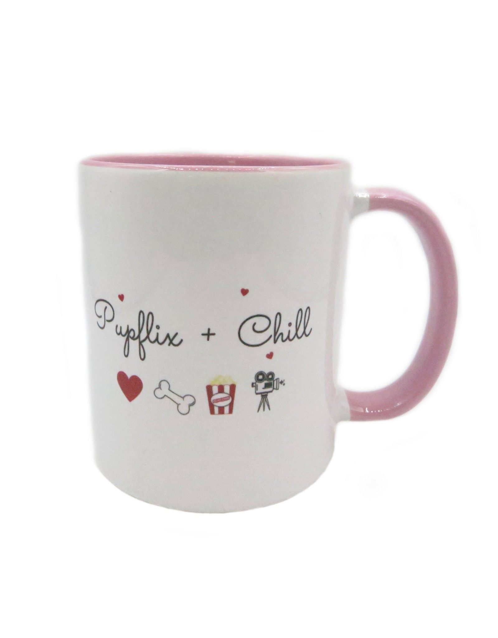 Pupflix & chill pink mug