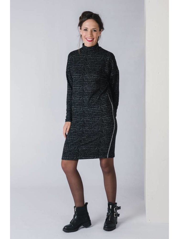 IVY LINN PIPPA DRESS BLACK MELEE