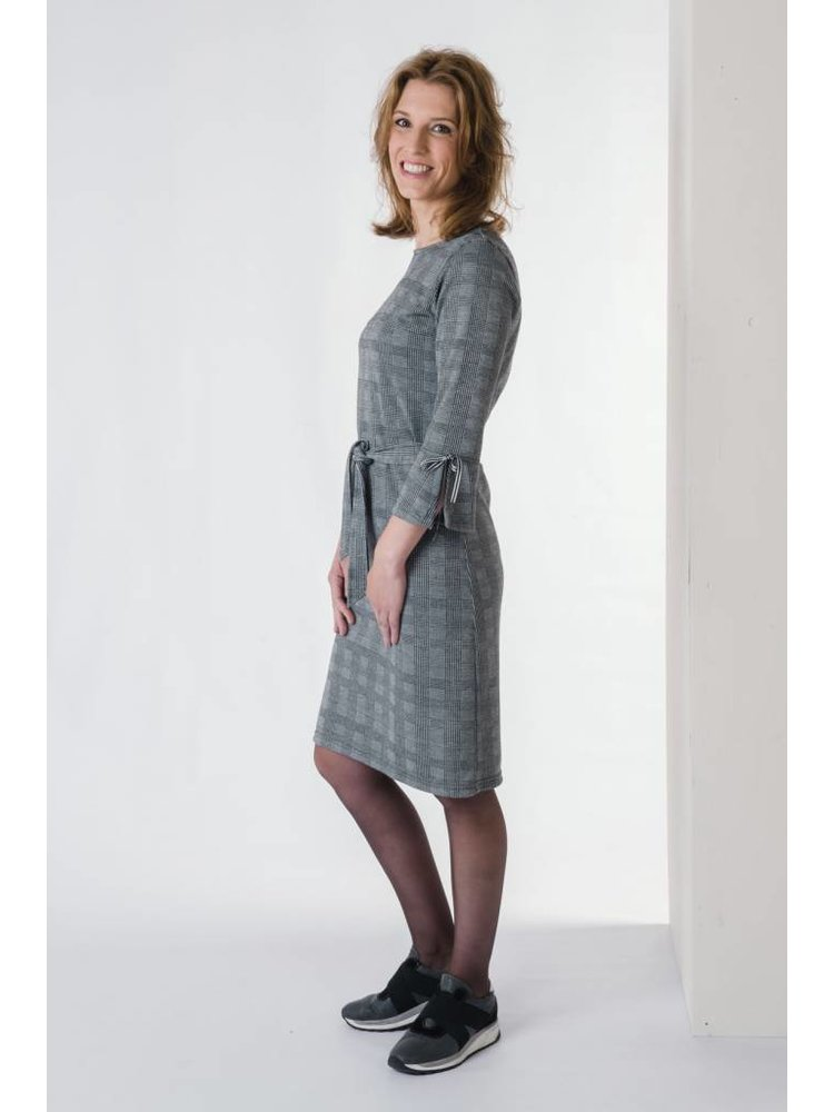 IVY LINN MIMI DRESS CHECK GREY