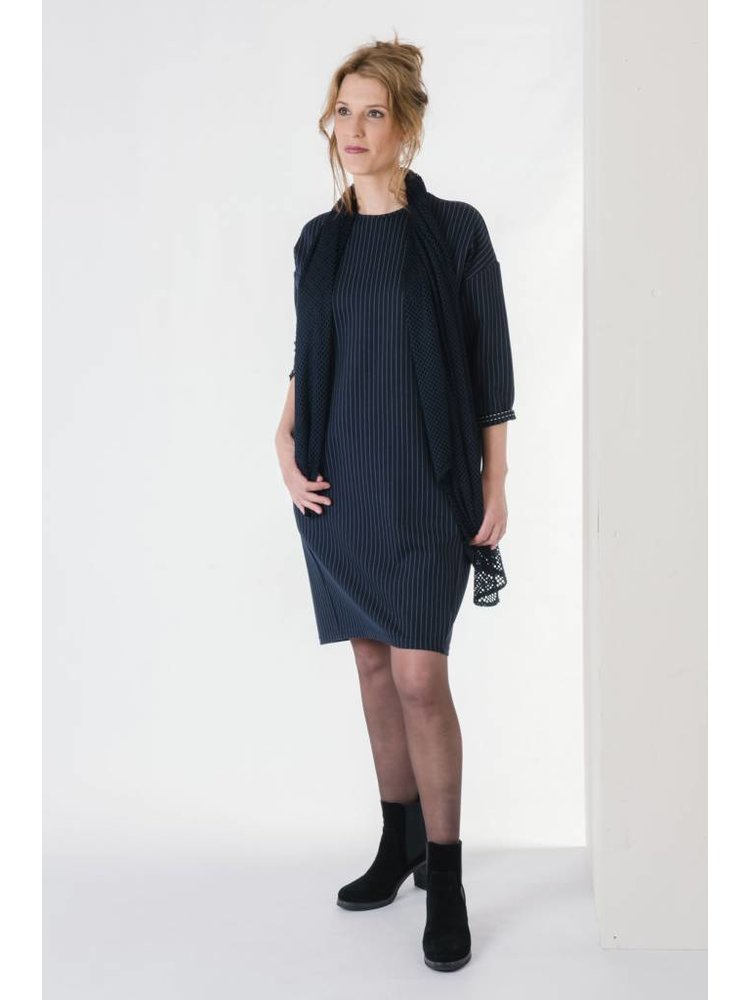 IVY LINN GOZO DRESS DARK BLUE