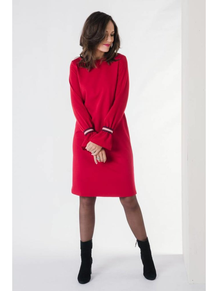 IVY LINN LISA DRESS RED