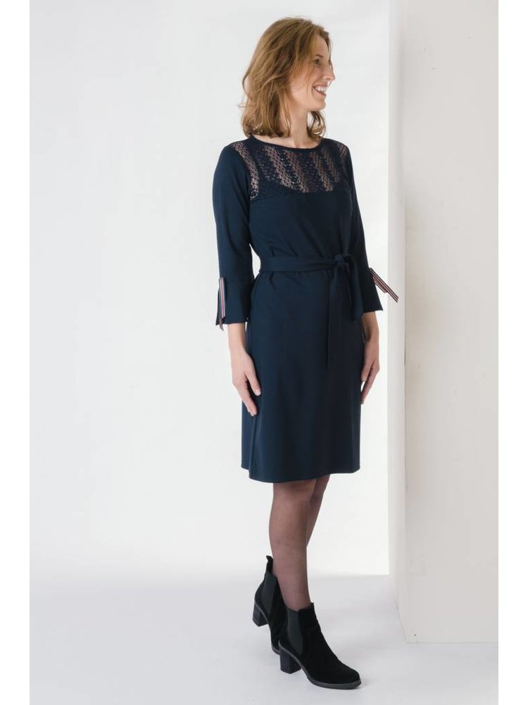 IVY LINN MIMI DRESS DARK BLUE