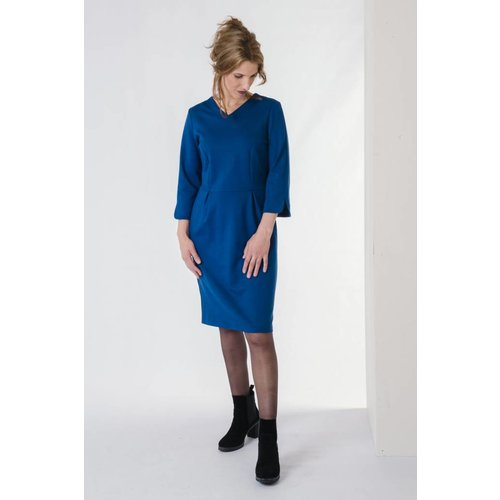IVY LINN ANNA DRESS BLUE