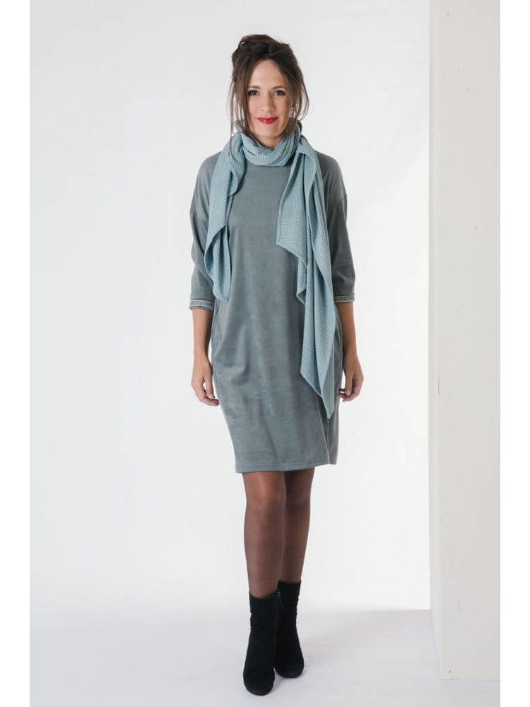 IVY LINN GOZO DRESS OCEAN GREEN