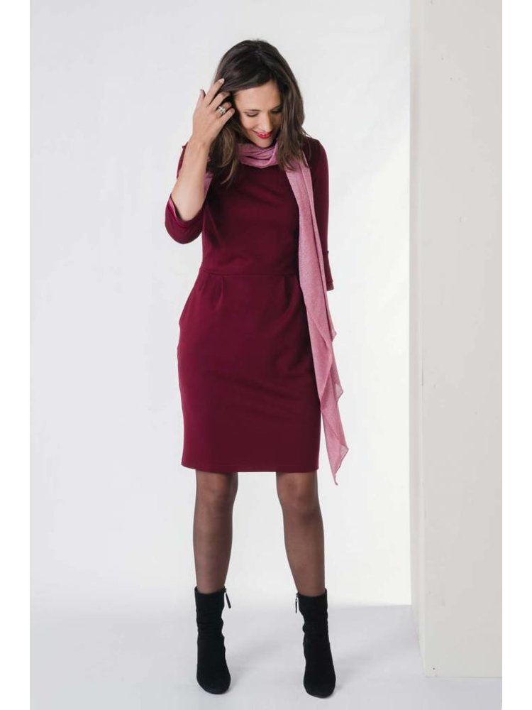 IVY LINN CITA DRESS DARK RED