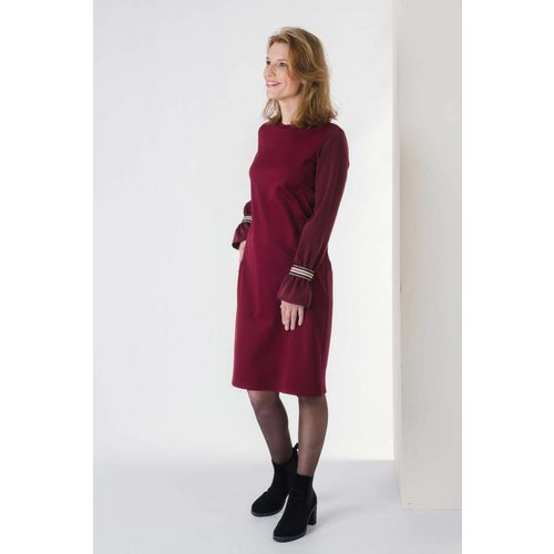 IVY LINN LISA DRESS DARK RED