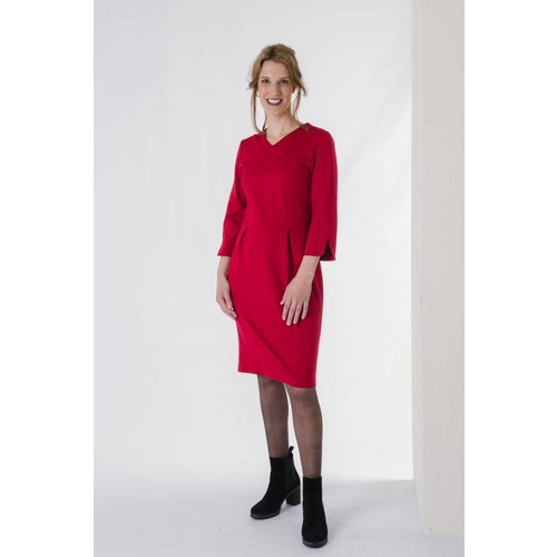IVY LINN ANNA DRESS RED