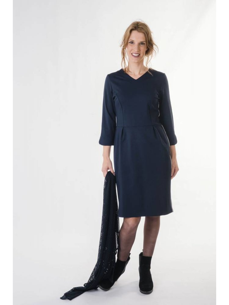 IVY LINN ANNA DRESS DARK BLUE