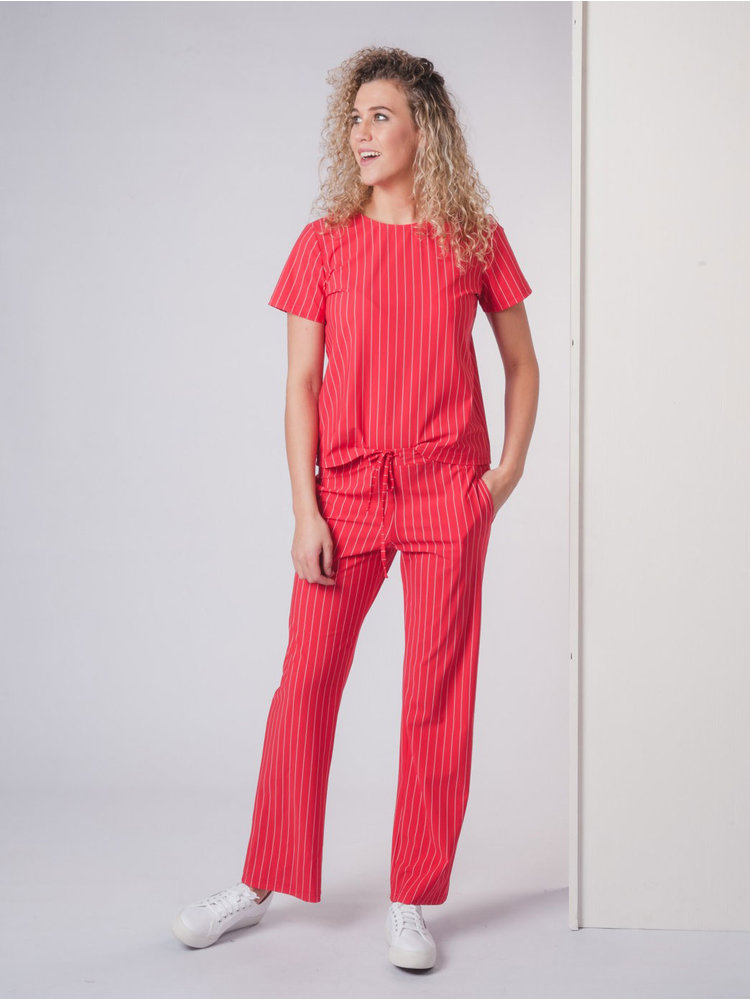 IVY LINN BELLA PANTS STRIPE RED