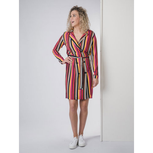 IVY LINN EEFJE DRESS MULTI COLOUR