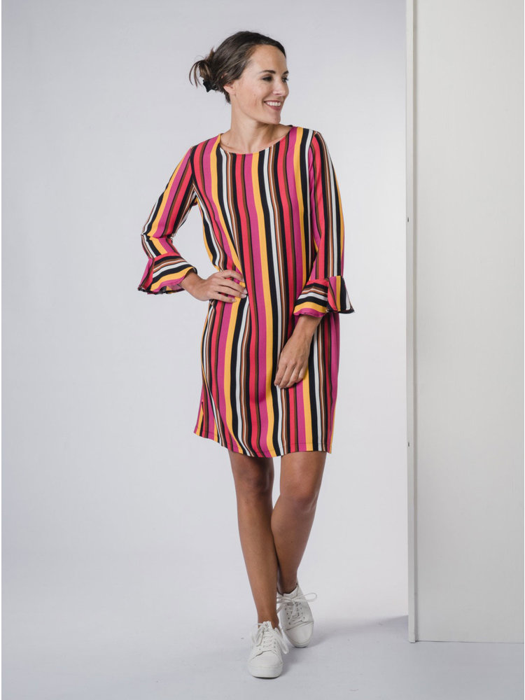 IVY LINN FELINE DRESS MULTI COLOUR