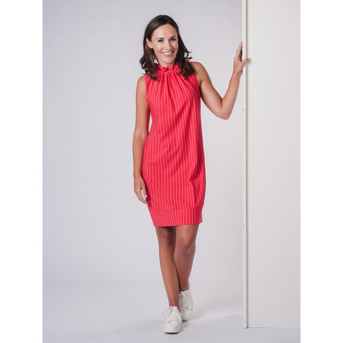 IVY LINN LOES DRESS STRIPE RED