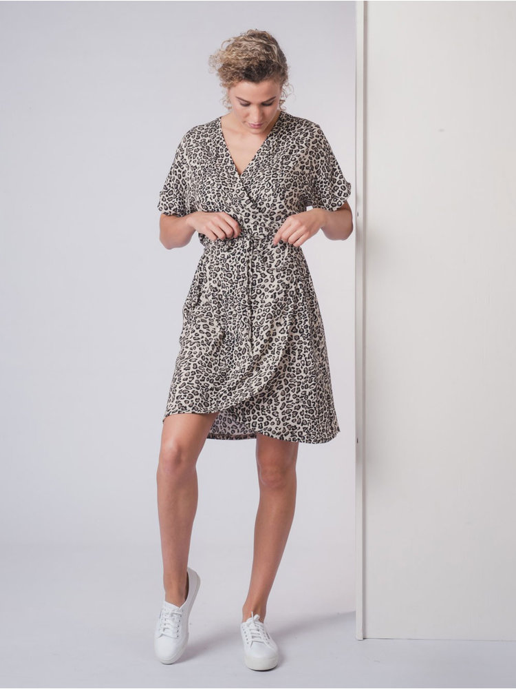 IVY LINN LONNE DRESS LEOPARD