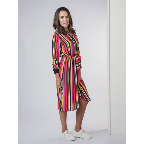 IVY LINN TEERSA DRESS MULTI COLOUR