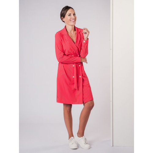 IVY LINN EEFJE DRESS STRIPE RED