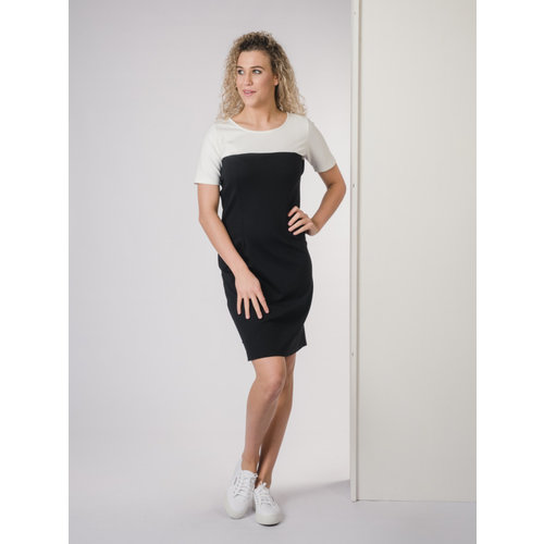 IVY LINN BONITA DRESS BLACK - WHITE