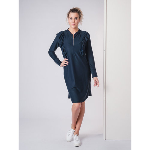 IVY LINN SUNNY DRESS DARK BLUE