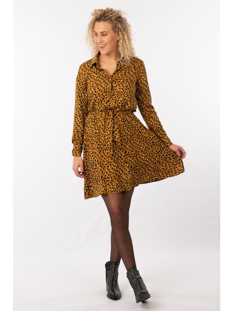 IVY LINN JITSKE DRESS YELLOW DOTS