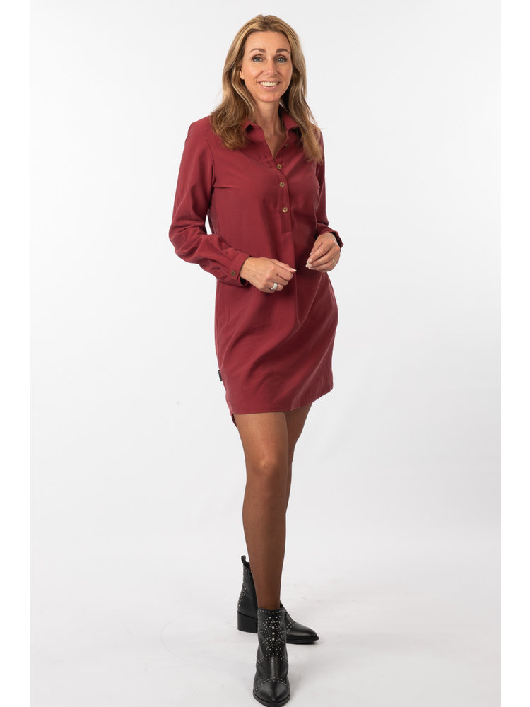 IVY LINN LIV DRESS BORDEAUX