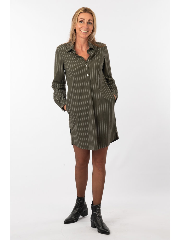 IVY LINN LIV DRESS STRIPE GREEN
