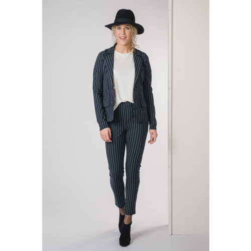 IVY LINN ANNEMOON PANTS STRIPE DARK BLUE