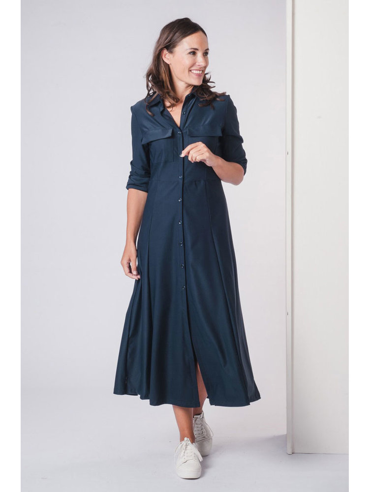 IVY LINN SISLY DRESS DARK BLUE