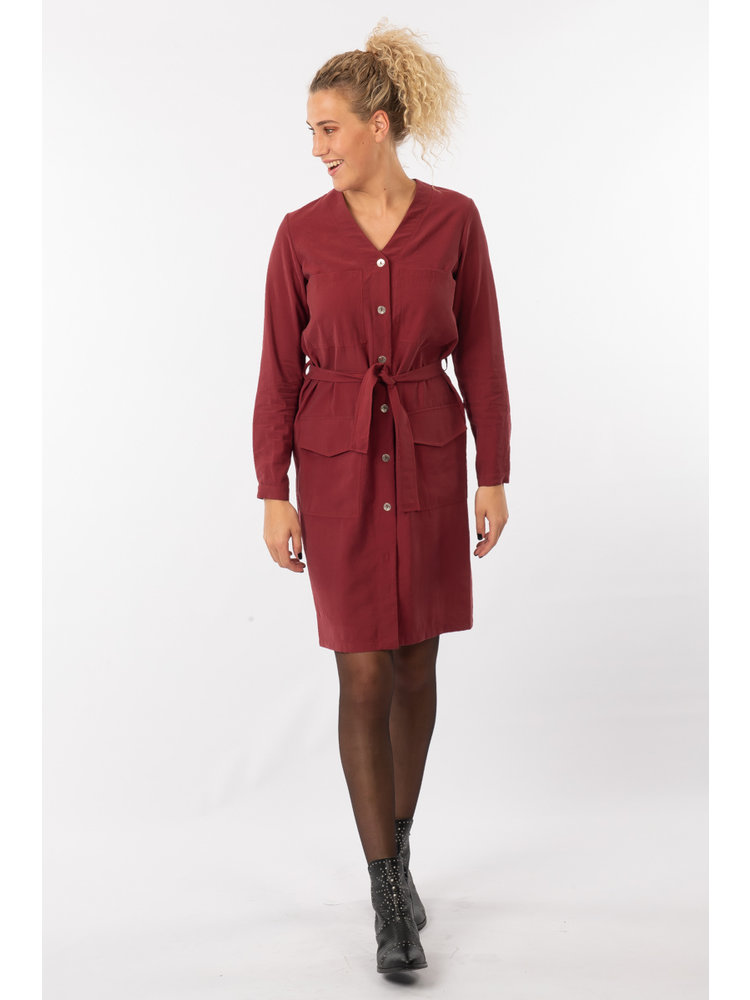 IVY LINN SUSAN DRESS BORDEAUX