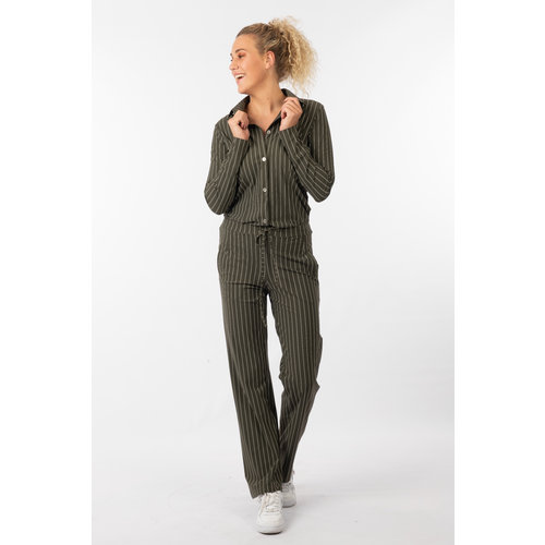 IVY LINN BELLA PANTS STRIPE GREEN