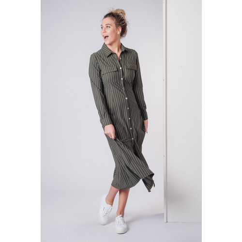 IVY LINN SISLY DRESS STRIPE GREEN