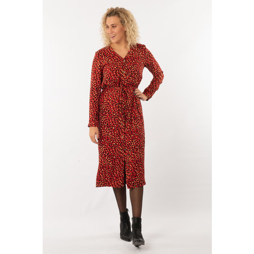 IVY LINN MADONNA DRESS RED DOTS