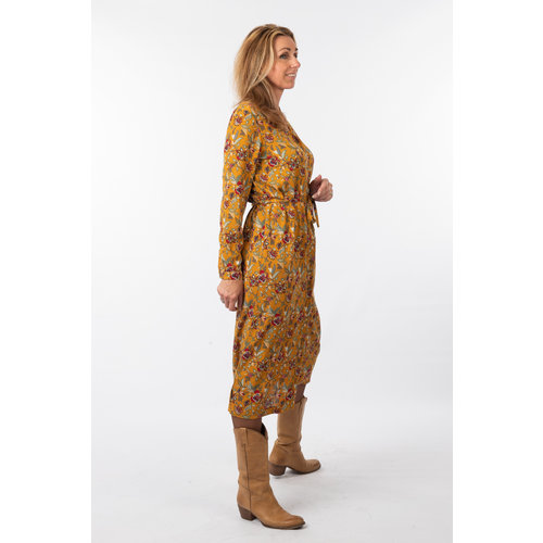 IVY LINN MADONNA DRESS YELLOW FLOWER