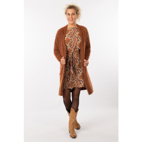 IVY LINN GINNY GARDIGAN BROWN KNIT