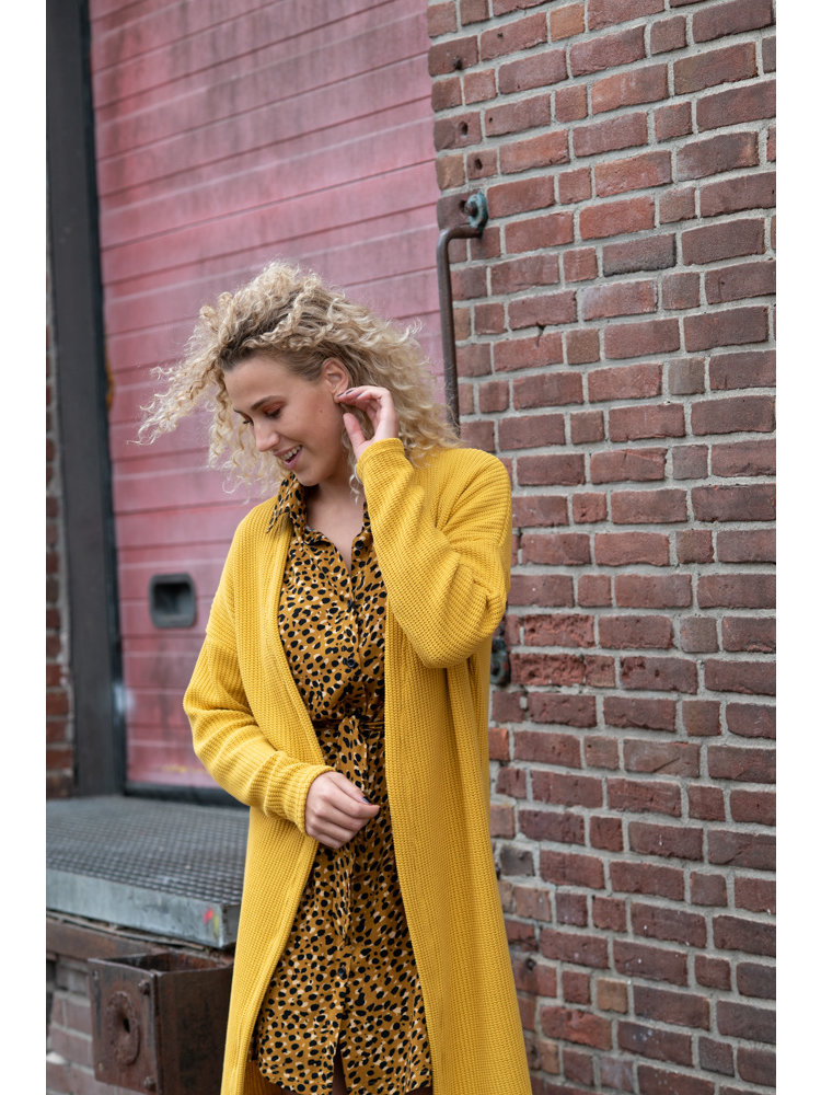 IVY LINN GINNY GARDIGAN YELLOW KNIT