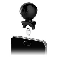 thumb-Qantik Astro 360 Mini 360 degrees action camera for Android smartphone (micro-USB & USB-C) with live streaming & 2 lenses-2