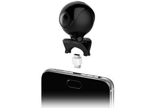 Qantik Astro 360 Mini 360 degrees action camera for Android smartphone (micro-USB & USB-C)