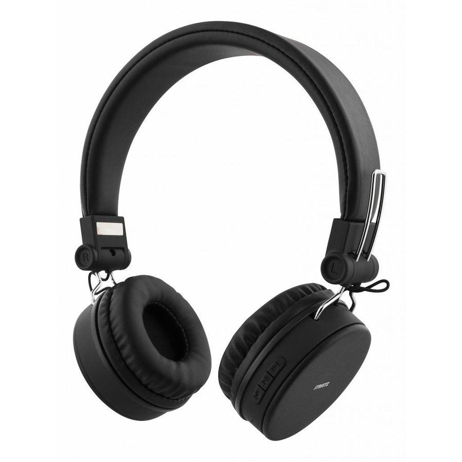 STREETZ Wireless foldable Bluetooth On-ear headset with microphone and up to 22 hours playback time, optional use with cable, in 5 colors and very comfortable to wear-1