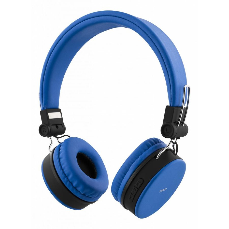 STREETZ Wireless foldable Bluetooth On-ear headset with microphone and up to 22 hours playback time, optional use with cable, in 5 colors and very comfortable to wear-3