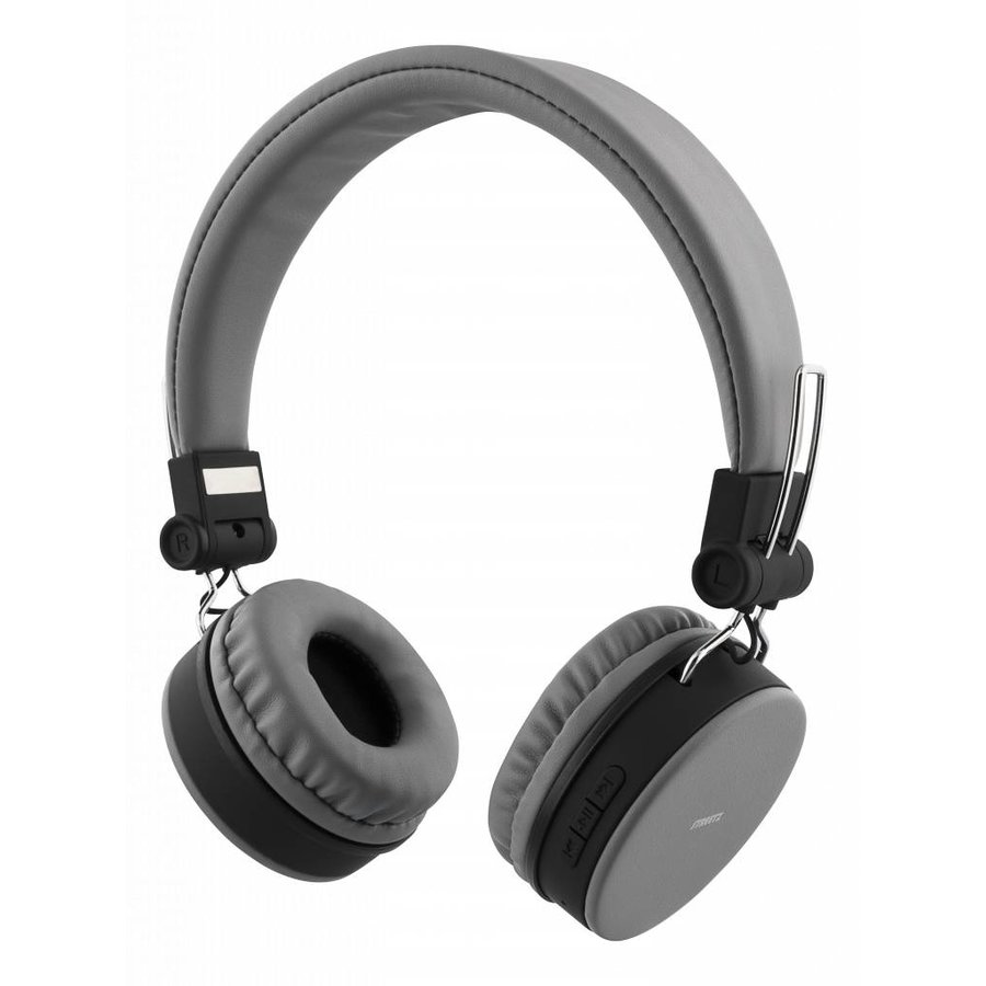 STREETZ Wireless foldable Bluetooth On-ear headset with microphone and up to 22 hours playback time, optional use with cable, in 5 colors and very comfortable to wear-4