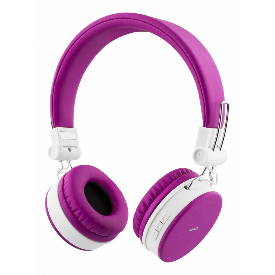 STREETZ Wireless foldable Bluetooth On-ear headset with microphone and up to 22 hours playback time, optional use with cable, in 5 colors and very comfortable to wear-5