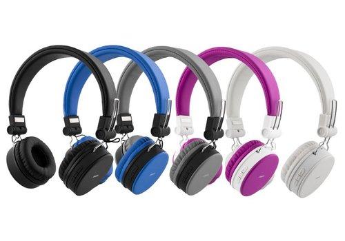 STREETZ Draadloze opvouwbare Bluetooth On-ear hoofdtelefoon met microfoon en tot 22 uur speeltijd