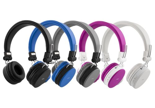 STREETZ Wireless foldable Bluetooth On-ear headset with microphone and up to 22 hours playback time