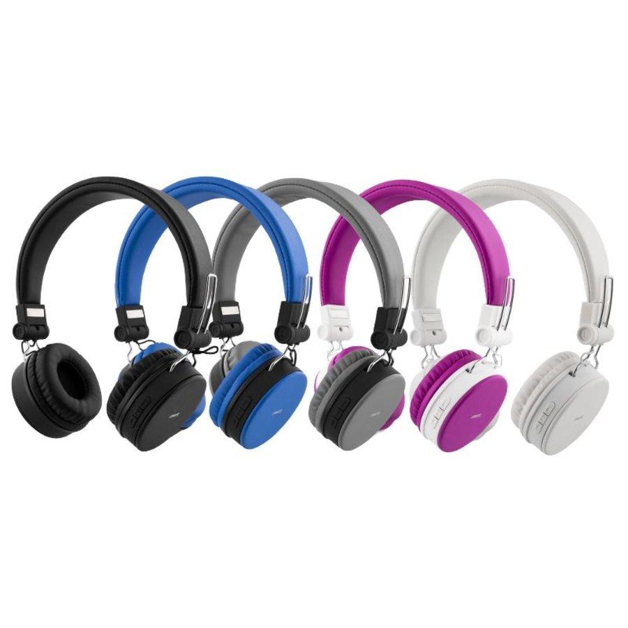 STREETZ Draadloze opvouwbare Bluetooth On-ear hoofdtelefoon met microfoon en tot 22 uur speeltijd, optioneel met kabel te gebruiken, in 5 kleuren en zeer comfortabel.-2