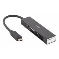 thumb-Deltaco UCR-153 USB-C Card reader USB 3.1 Gen 1 USB-C SD, Micro SD, CF en MS Kaartlezer Windows & MAC OS-1
