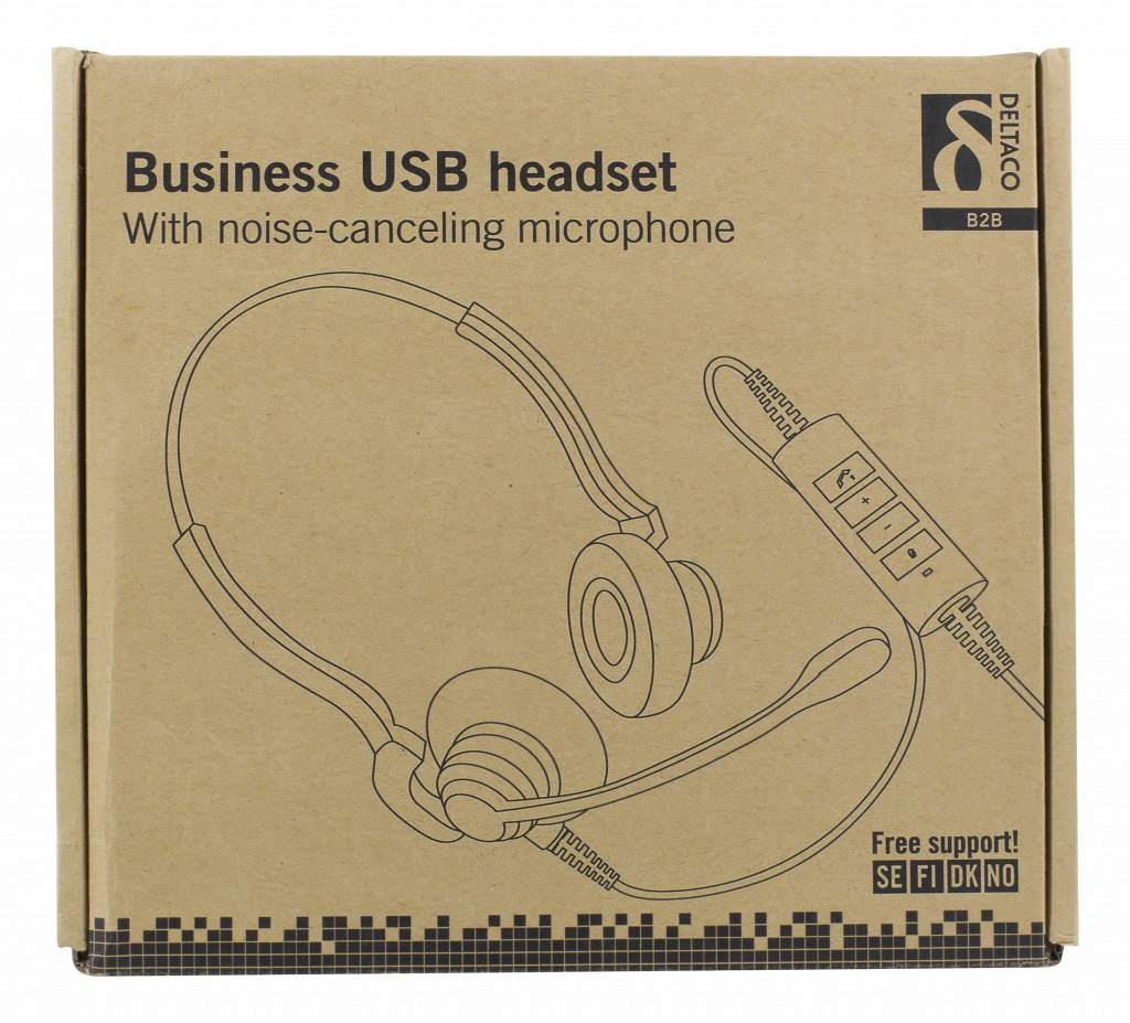 Hl 71 Usb Headphone Wiring Diagram Deltaco Professional Business Headset 28mm Drivers With Noisereduction In Microphone 1